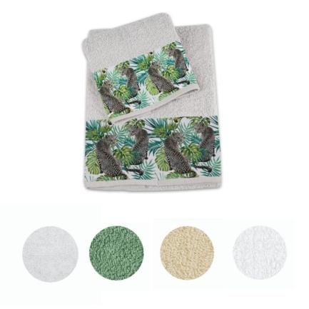 set da 4 pezzi cotone 2 x 50 x 100 cm asciugamano e 2 x 70 x 140 cm bianco Asciugamano in spugna serie Rhodos Champagne Delindo Lifestyle/®
